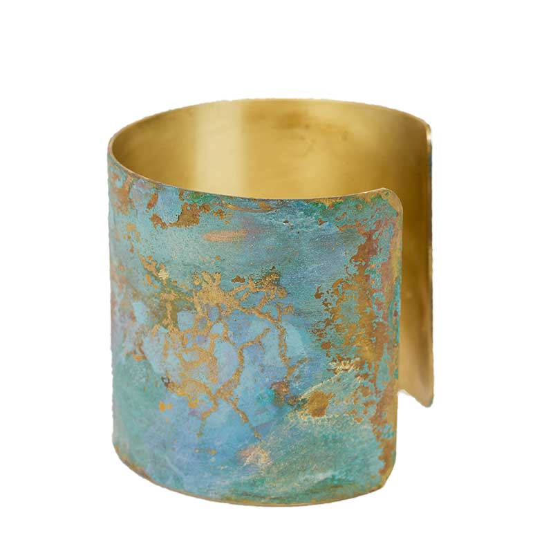 Iridescent Patina Cuff - Version 3