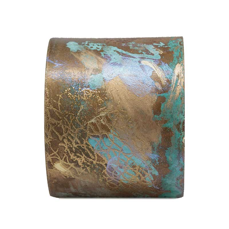 Iridescent Patina Painted Cuff - V