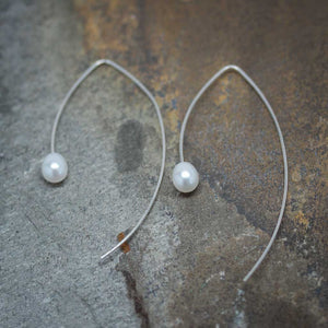 Pearly End Marquise Earrings