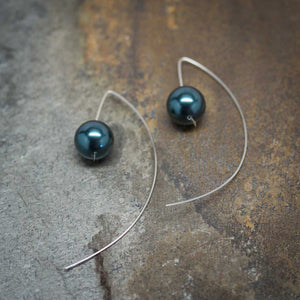 Tahitian Pearl Swarovski Marquise Earrings