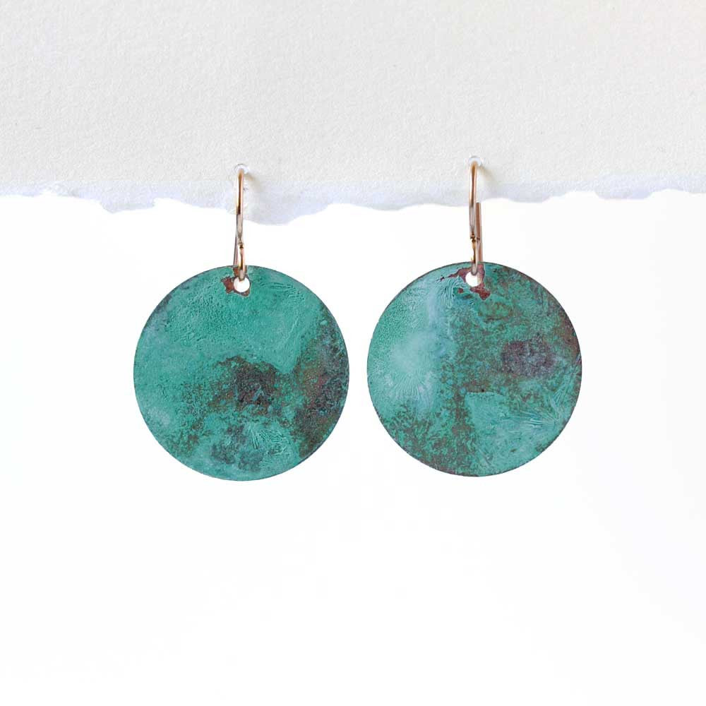 Turquoise on Copper Patina Earrings - JUICY JEWELRY
