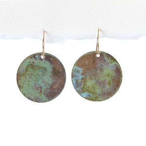 Green Sea Patina Earrings -