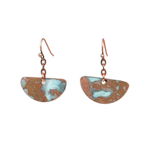 Copper Pond Patina Earrings