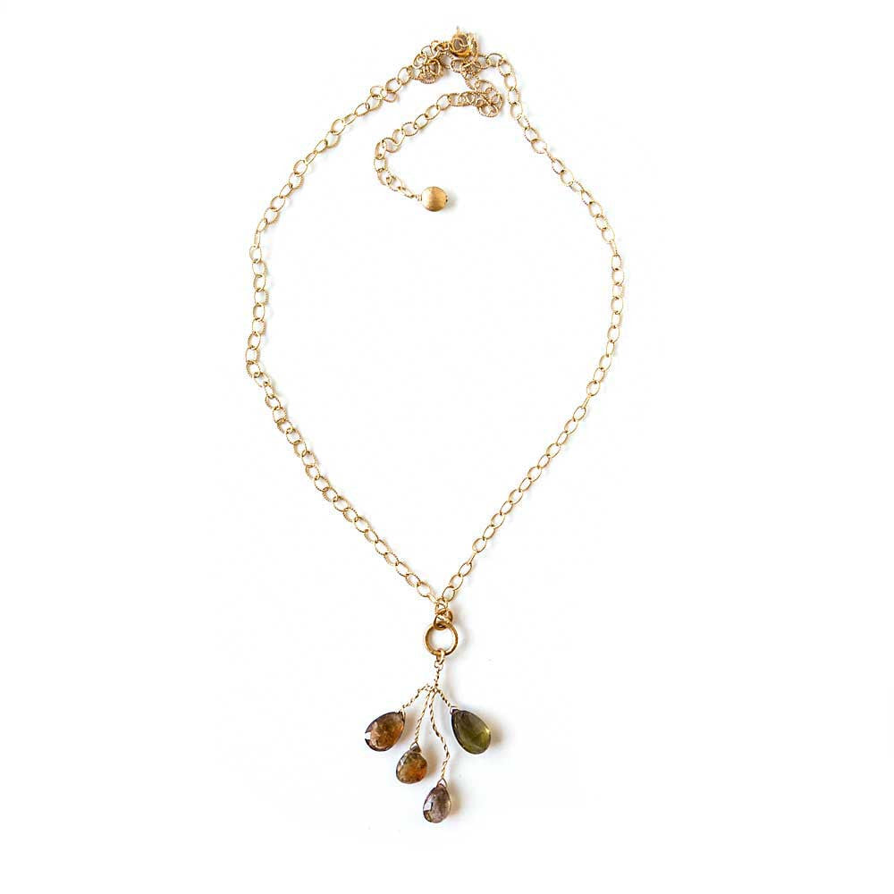 Vesuvianite Drops Necklace - JUICY JEWELRY