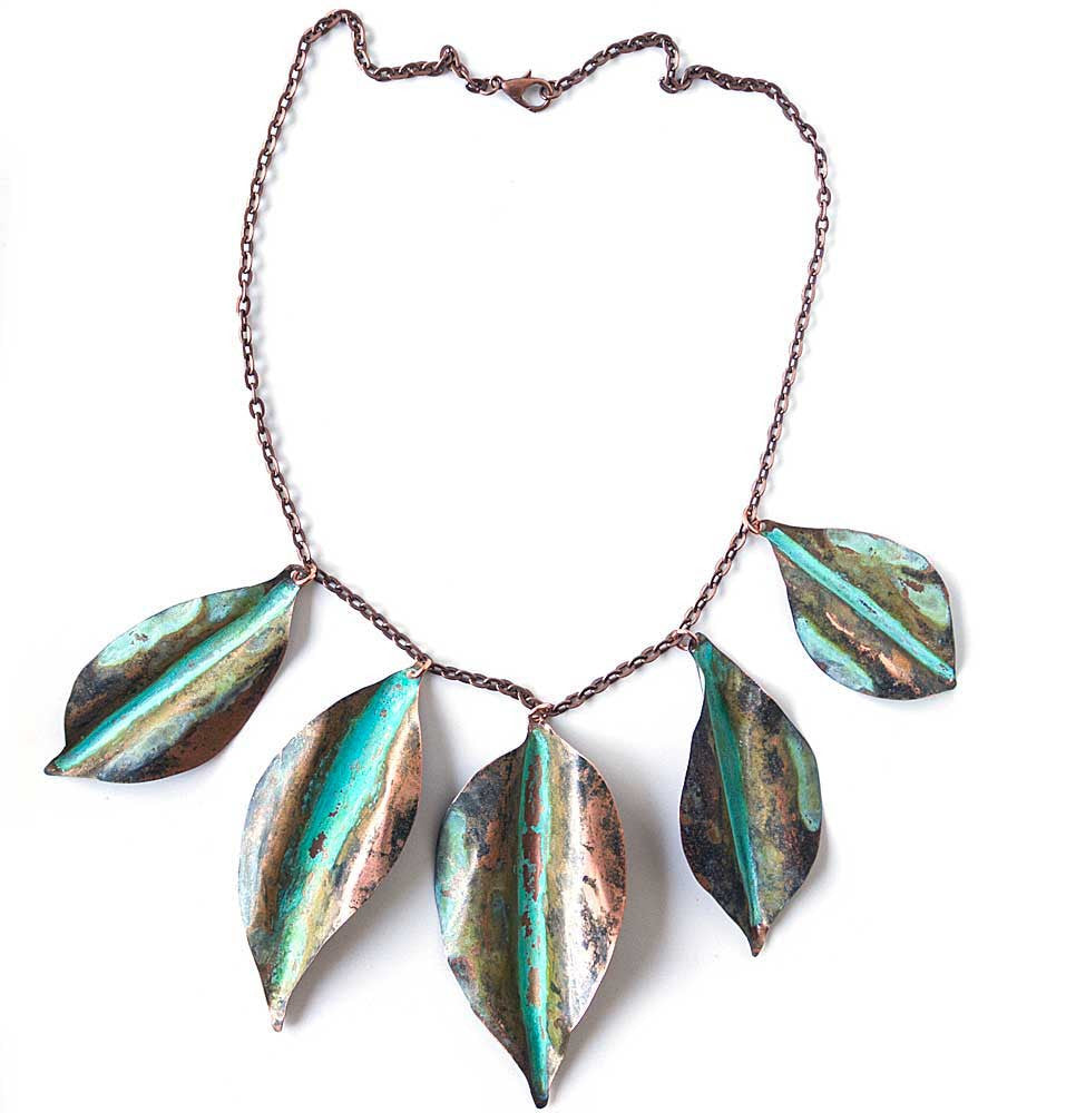 Fallen Leaves Patina Necklace -