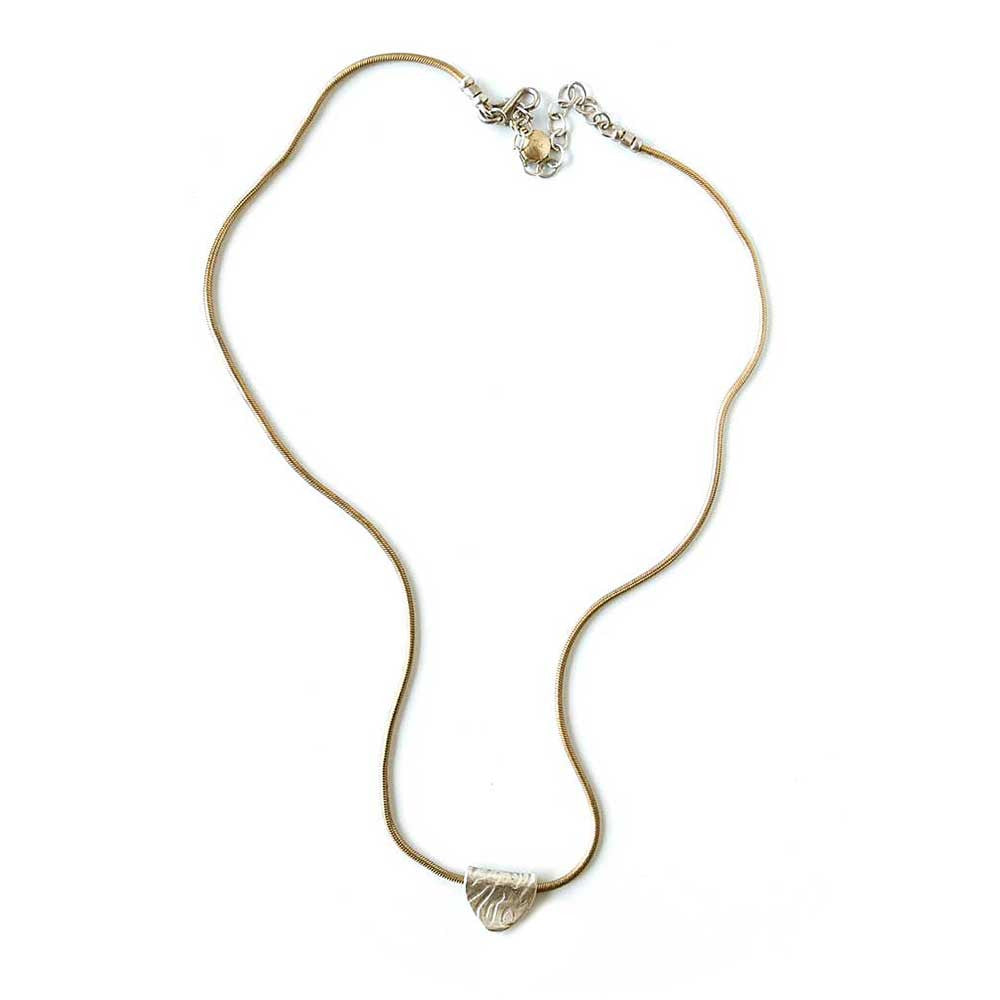 Silver & Gold Triad Necklace -