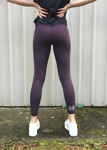 "Lara ""Pocket"" Tights - Grape"