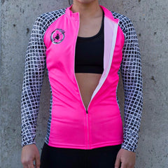 PBS Womens Paddle tank long sleeve - Pink - DS Flex