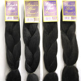 Black N Gold Braid 100% Kanekalon Modacrylic Fiber 1 (Pack of 4)
