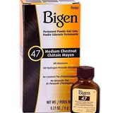 Bigen Permanent Powder Hair Color - 47 Medium Chestnut - Forever Beauty Choice