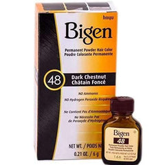Bigen Permanent Powder Hair Color - 48 Dark Chestnut