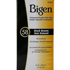 Bigen Permanent Powder Hair Color - 58 Black Brown