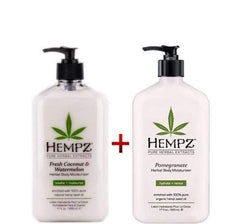 Hempz Herbal Body Moisturizer Coconut & Watermelon 17oz. And Pomegranate 17oz
