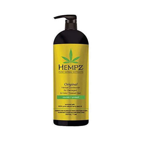 Hempz Original Herbal Conditioner for Damaged and Color Treated Hair 33.8 oz (1 Liter)