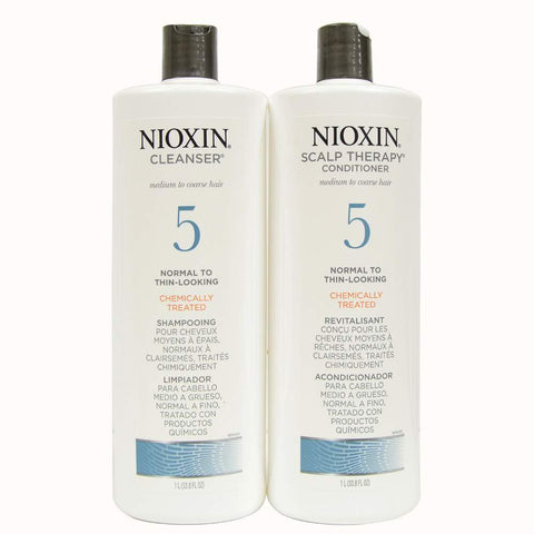 Nioxin Duo 5 Cleanser And Scalp Therapy 33oz
