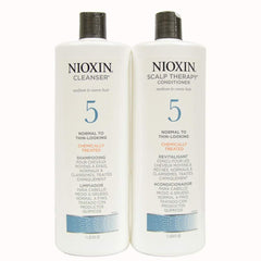 Nioxin System 5 Cleanser & Scalp Therapy Conditioner 33oz Duo