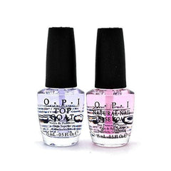 OPI Nail Lacquer, Natural Nail Base Coat & Top Coat 0.5oz