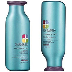 Pureology Strength Cure Shampoo & Conditioner 8.5oz + Leave in 6oz -3pc set