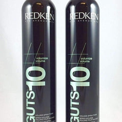 Redken Guts 10 Volume Spray Foam 10.5oz (package of 2)