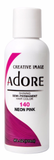 Adore Semi Permanent Hair Color, 140 Neon Pink 4oz