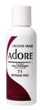 Adore Semi Permanent Hair Color, 71 Intense Red 4oz
