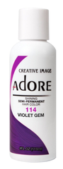 Adore  Semi Permanent Hair Color 114 Violet Gem 4 oz