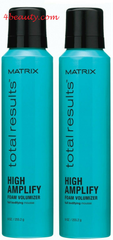 Matrix Total Results High Amplify Foam Volumizer for Unisex, 8.3 Ounce(pack of 2)