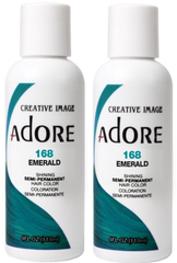 Adore Semi-Permanent Haircolor, [168] Emerald 4 oz (pack of 2)