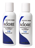 Adore  Semi Permanent Hair Color 112 Indigo Blue 4 oz
