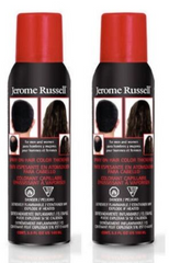 Jerome Russell Spray on Hair Color Thickener, Sliver/Gray  3.5 oz (pack of 2)
