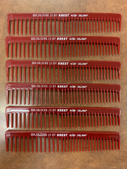 Professional hair comb Krest goldilocks #15(pack of 6)