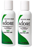 Adore Semi Permanent Hair Color, 164 Electric Lime  4 oz