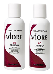 Adore  Semi Permanent Hair Color 68 CRIMSON 4 oz (pack of 2)