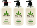Hempz Pure Herbal Original Extracts Body Moisturizer 17oz (Pack of 3)