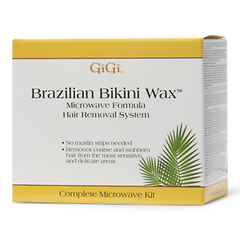 Gigi Brazilian Bikini Wax Microwave Formula Hair Removal Kit