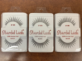 Stardel Lash 100% Human Hair Eyelashes Black - SF 505 (pack of 3)