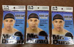 Annie  STOCKING WAVE CAP MR. DURAG BLACK #4330 (pack of 3)