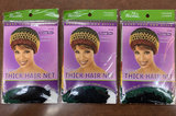 Annie HAIR NET THICK #4499 JAMAICAN color (pack of 3) +1 FREE domecap