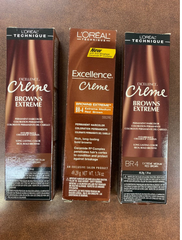 Loreal Excellence Creme Extreme Browns #Br-4 Med Red Brown(pack of 3)