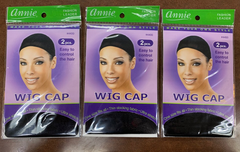 Annie Stocking Wig Cap #4400 2Pc One size fits all New (pack of 3)