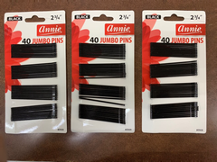 Annie 40 Jumbo Pins 2 3/4 Black #3103 (pack of 3)