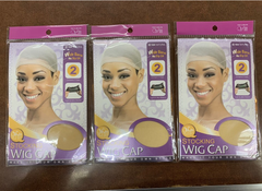 Annie Stocking Wig Cap Qfitt #104 Natural (pack of 3)