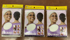 Motion Lady Du-rag Cap white color #142 (pack of 3)
