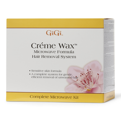 Gigi Creme Wax Microwave Formula Hair Removal Kit