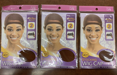 Annie Stocking Wig Cap Qfitt #102 LIGHT BROWN (pack of 3)