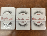 Stardel Lash 100% Human Hair Eyelashes Black - SF DW(pack of 3)