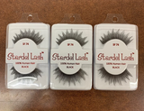 Stardel Lash 100% Human Hair Eyelashes Black - SF 74(pack of 3)