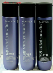 Matrix Total Results So Silver Shampoo 10oz(2pk) & Silver Conditioner 10oz -3pc