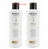 Nioxin System 3 Cleanser Shampoo Color Treated 33.8 oz (Pack of 2)