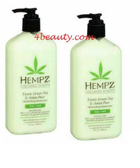 Hempz Exotic Green Tea and Asian Pear Moisturizer 17oz (Pack of 2)